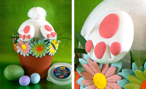 Burrowing Bunny Centre Piece Easter Crafts Bostik