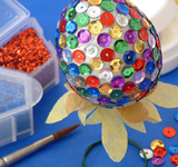 Sequined Egg Centrepiece