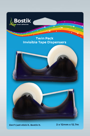 Twin Pack Invisible Tape Dispensers